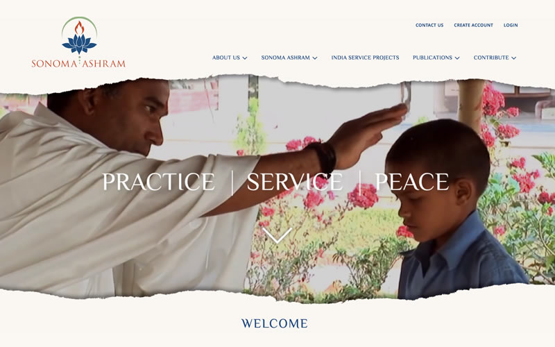 Sonoma Ashram Website Design