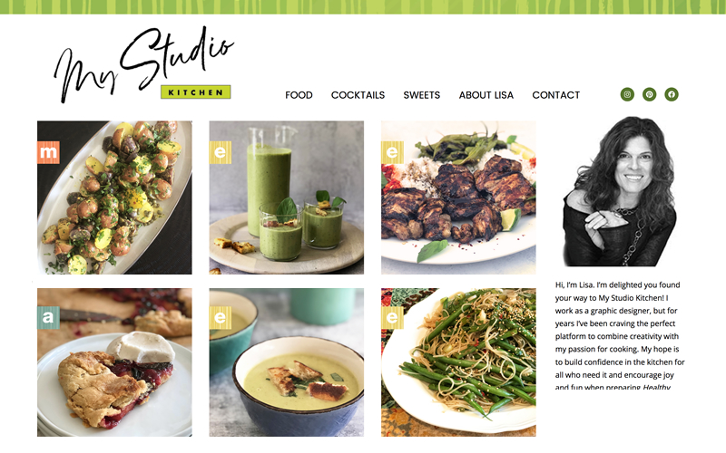 Food Blogger Website