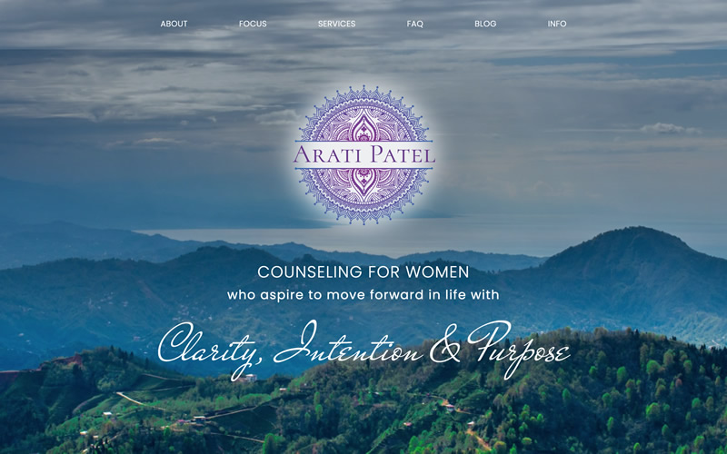 Arati Patel Therapist Website