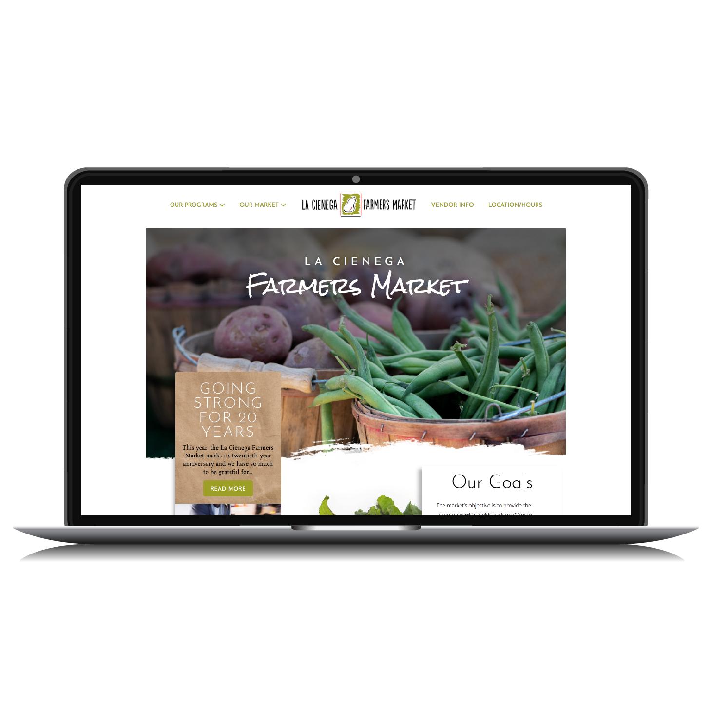 Community Farmers Market Website Design