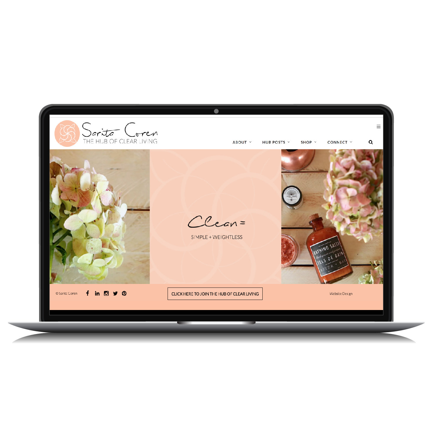 Natural Beauty Blog Design